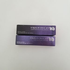 Bundle of 2 Urban Decay lipsticks